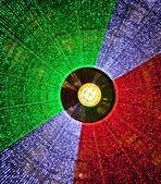 Iluminación, cúpula de la galería vittorio emanuele ii — Foto de Stock