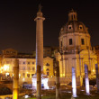 Trajans column and Basilica Ulpia, Rome — 图库照片