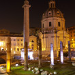 Stock Photo: Trajans column and Basilica Ulpia, Rome