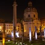 Trajans column and Basilica Ulpia, Rome — Stock Photo