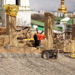 Construction workers, Pechersk Lavra monastery in Kiev — Stock Photo #8718219