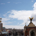 Indipendence square, Kiev — Stock Photo