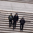 Stock Photo: Sailors, Potemkin steps in Odessa