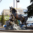 Statue Of Cossack Mamay, Kiev — Stock Photo #8732536