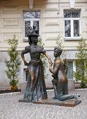 Sculprures des amants, kiev — Photo