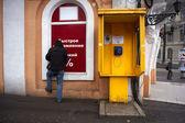 Yellow public telephones in Odessa — Stock Photo