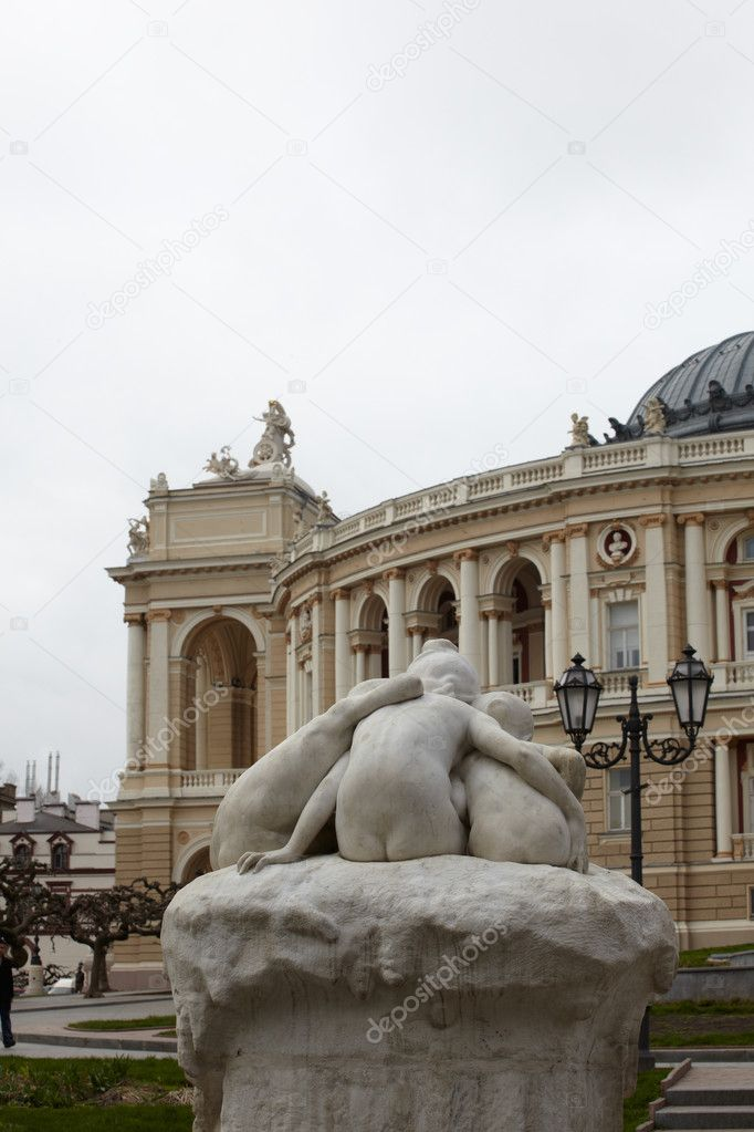 View of Opera and ballet house in Odessa, Ukraine — Stock Photo #8732920