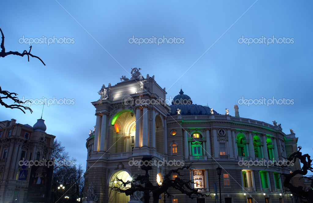View of Opera and ballet house in Odessa, Ukraine  Stock Photo #8733054