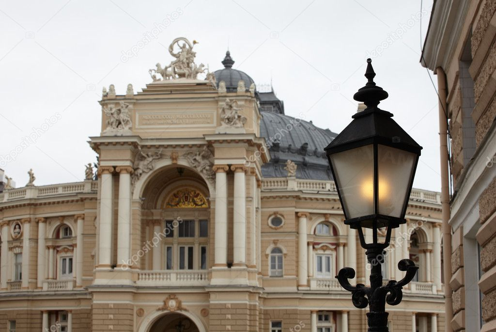 View of Opera and ballet house in Odessa, Ukraine  Stock Photo #8733198