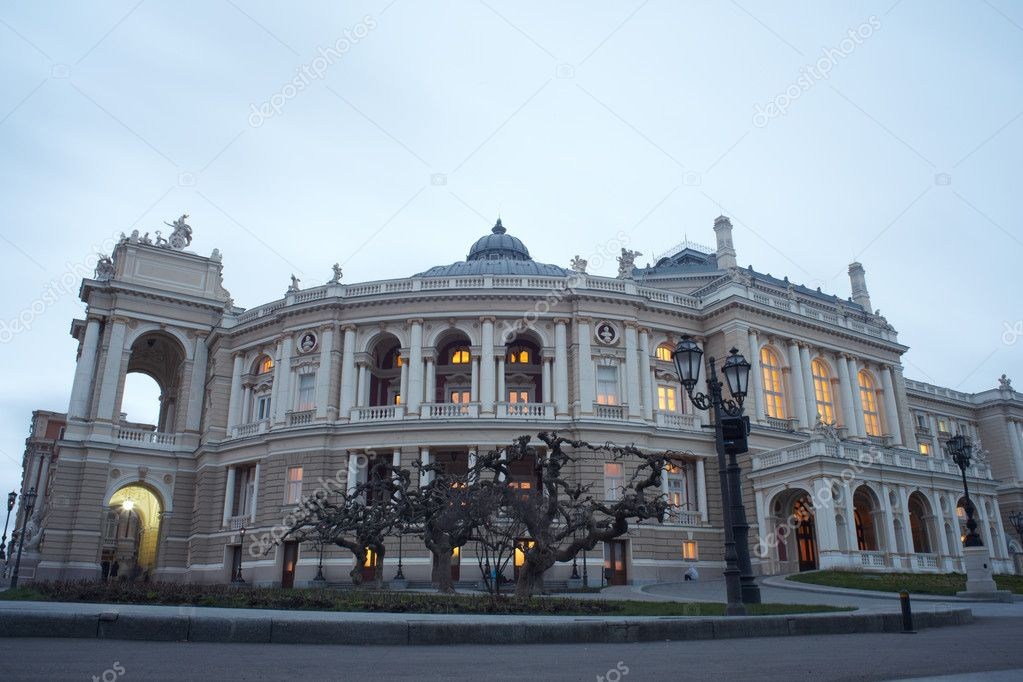 View of Opera and ballet house in Odessa, Ukraine  Stock Photo #8733284