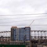 Stadium under construction in Kiev — Stock Photo