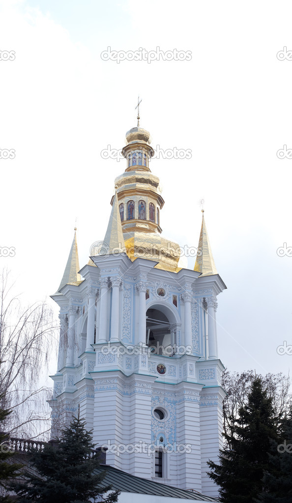 View of Pechersk Lavra monastery in Kiev, Ukraine — Stock Photo #8745508