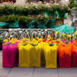 Flowers inside bags - Stock Photo