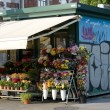 Stock Photo: Flowers in kiosk