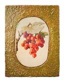 Goldene früchte mit traube — Stockfoto