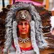 Native American headdress — Stock Photo