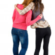 Back view of two young girl (brunette and blonde) — Stock Photo #10233201