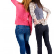 Back view of two young woman — Stock Photo #10233227