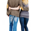 Back view of young couple — Stock Photo