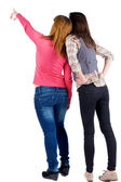 Back view of two young woman — Stock Photo