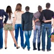 Stock Photo: Back view group of