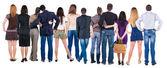 Rückansicht-gruppe von — Stockfoto