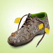 Concept. Eco-friendly shoes. — Stock Photo