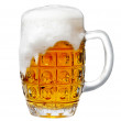 Glass of light beer foam - 图库照片