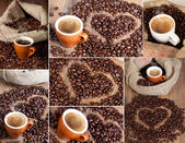 Coffe collage — Stock Photo