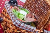 Pic-nic basket — Stock Photo