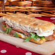 Focaccia sandwich — Stock Photo