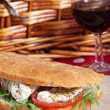 Stock Photo: Focaccibread sandwich