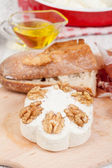 Cheese with walnuts — ストック写真