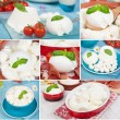 Dairy products collage - Stock Photo