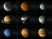 Planets collage — Stock Photo
