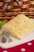 Italian focaccia with rosemary — Stock Photo