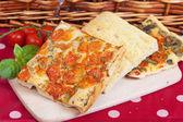 Italian focaccia bread — Stock Photo