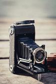 折叠式照相机 — 图库照片