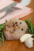 Beef and rosemary — Stock Photo