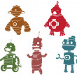 Silhouettes of robot — Stock Vector #10018815