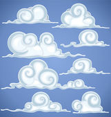 Clouds in blue sky — Stock Vector