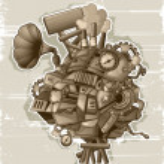 Steampunk mechanism_grunge — Stock Vector #9098897