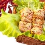 Chicken kebab — Stock Photo