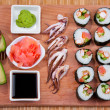Japanese sushi, — Stock Photo