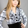 Girl in a checkered shirt - Stockfoto