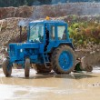 Blue tractor — Stock Photo #9098108