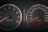 Automobile speedometer and tachometer — Stock Photo