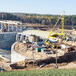 Construction of hydropower plant — Stock Photo