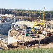 Stock Photo: Construction of hydropower plant