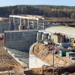 Belarus. Grodno. The construction of hydropower plants. — Stock Photo